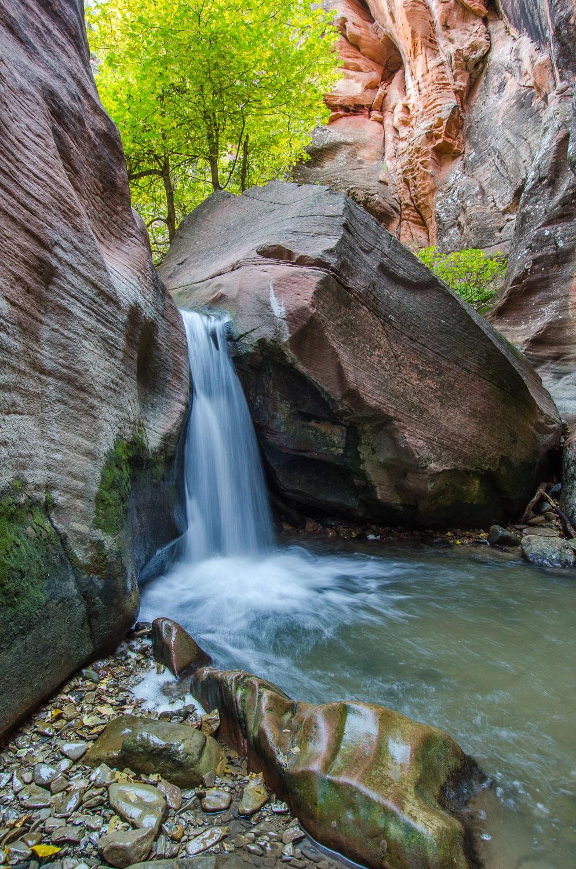 """""""Velvet Falls"""", Kanarra Creek and Waterfall Near Zion National P"""