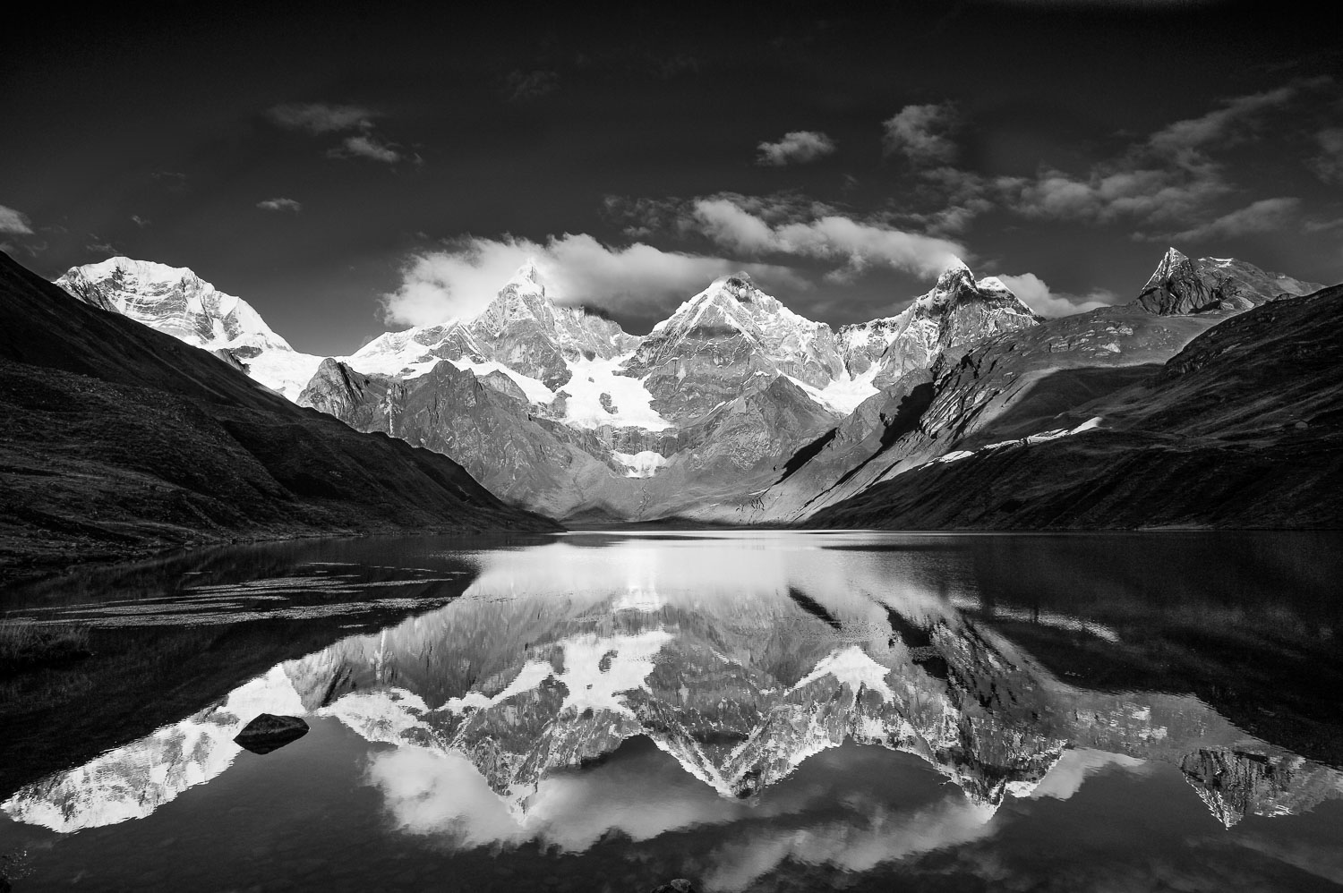 """Reflections and Stillness"",  Black and White Photograph B & W o"