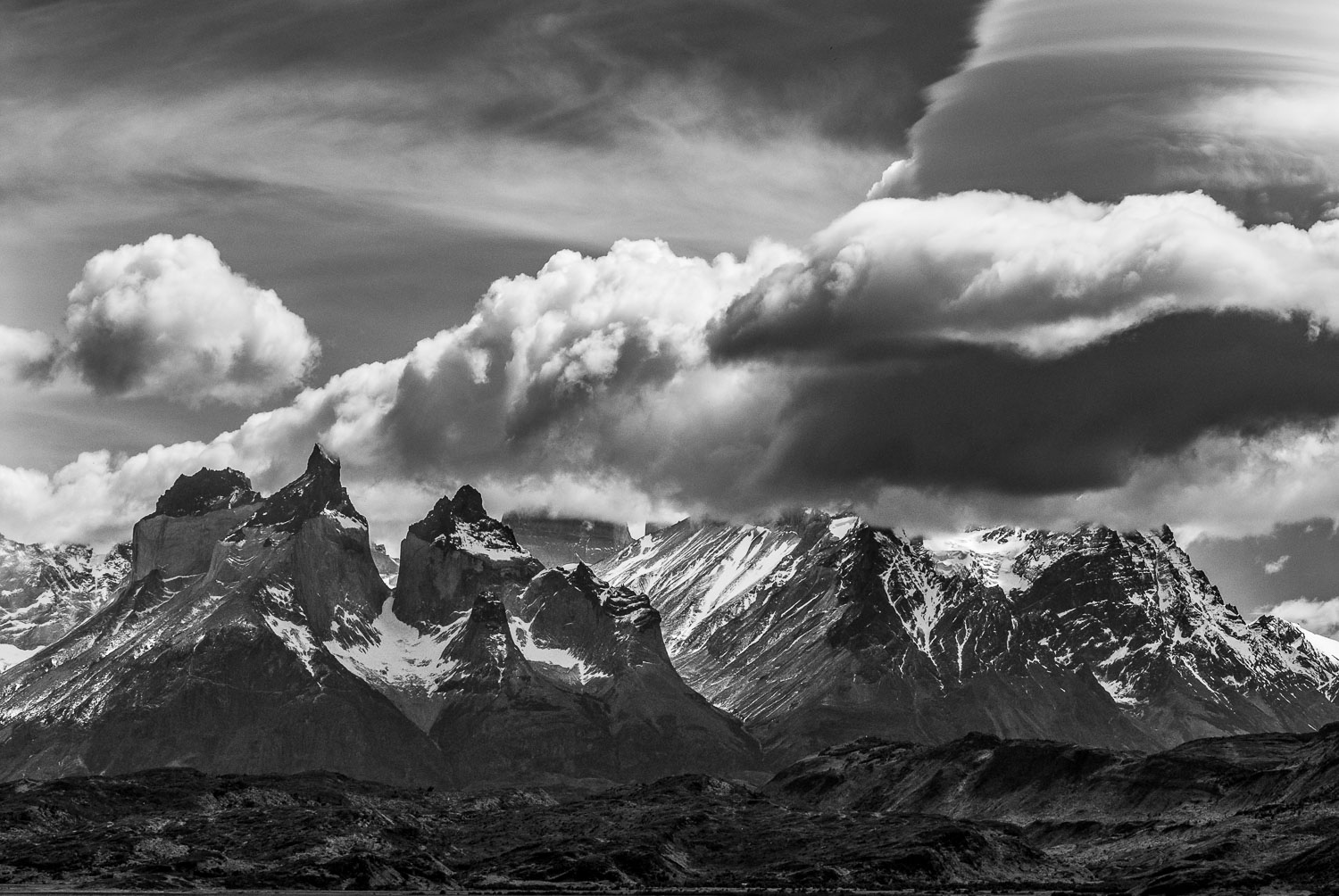 """Monochrome Tempest"" Black and White B &W  Photograph of Cuernos"