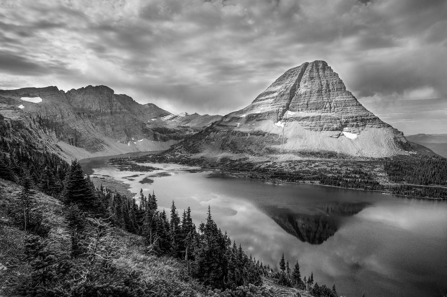 """Hidden in Black and White"" Black and White Landscape photograph"