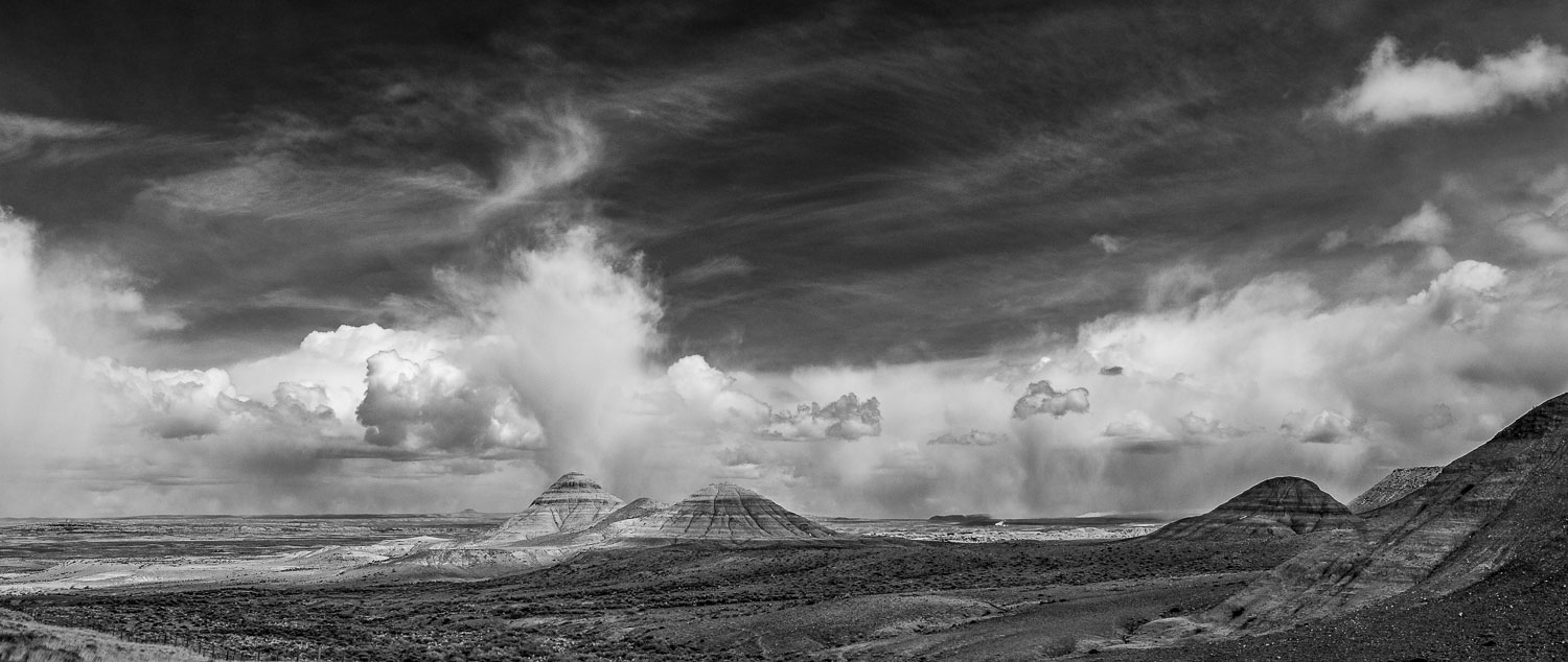 """Bathing the Badlands"" . Black and White B &W  Panoramic Photogr"