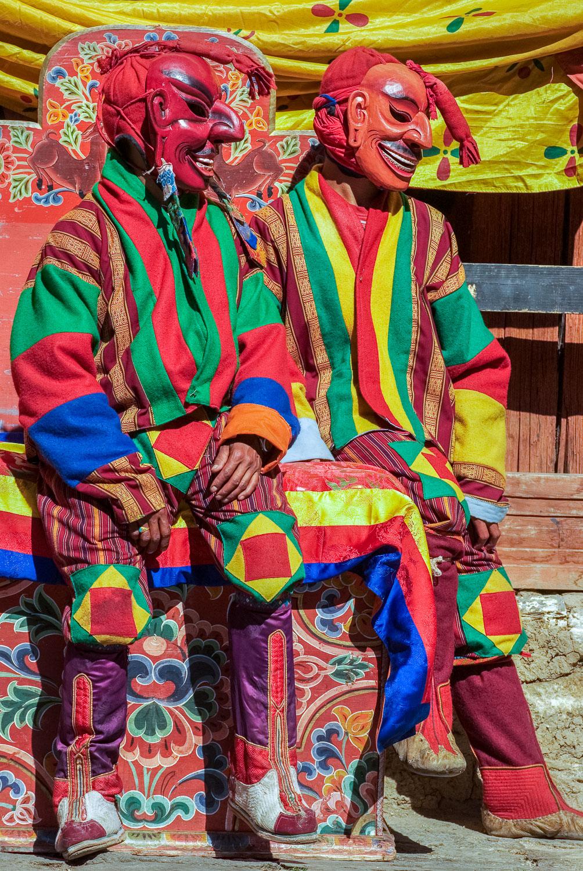 Irreverant Clowns at Jakar Festival, Bumthang, Bhutan