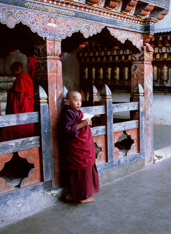 """Spiritual Practice"", Young Monk Portrait, Bhutan"