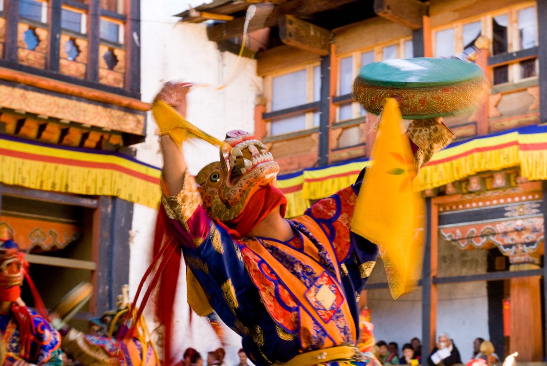 Dragon's Dance, Jakar Festival, Bumthang, Bhutan.