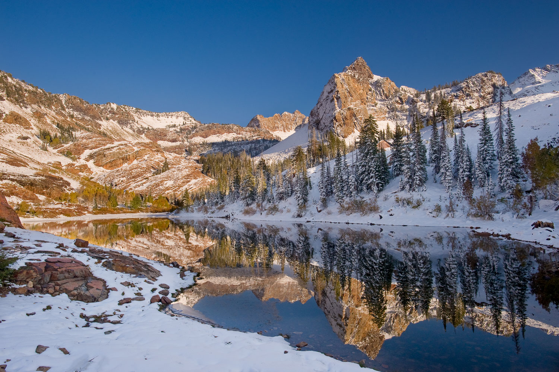 """Golden Blanche"", Sundial Peak Reflection,  Big Cottonwood, Wasa"
