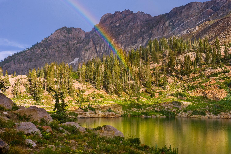 """""""Cecret Prism"""": Rainbow at Devil's Castle and Cecret Lake, Wasat"""