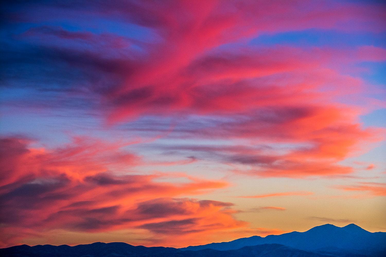 """Cotton Candy Sky over Oquirrh Mountains"", near Salt Lake City,"