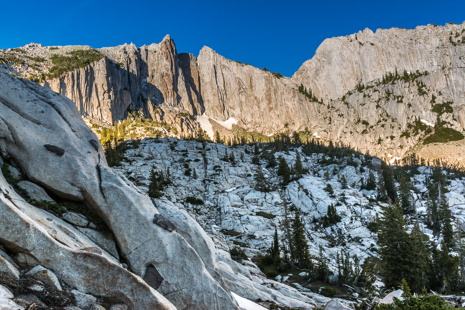 Lone Peak Wilderness and Cirque with Sculpted Granite, Wasatch M