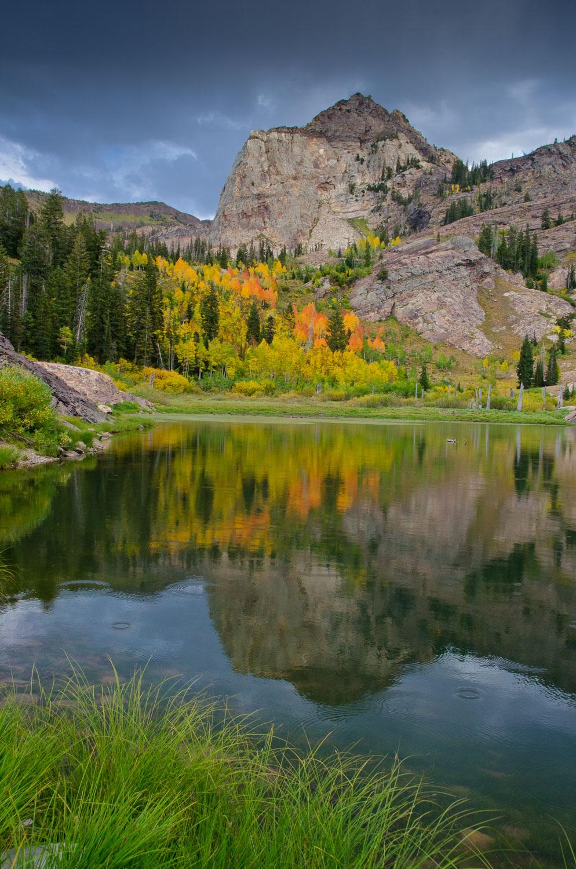 """Lillian's Sundial""Sundial Peak , Fall Colors reflected in Lake"