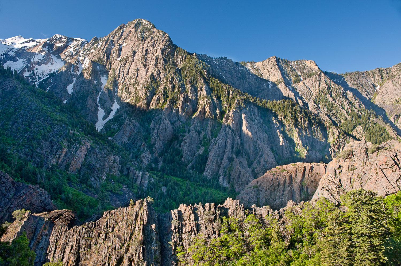 Quartzite Rock and Geology: Storm Mountain, Big Cottonwood Canyo