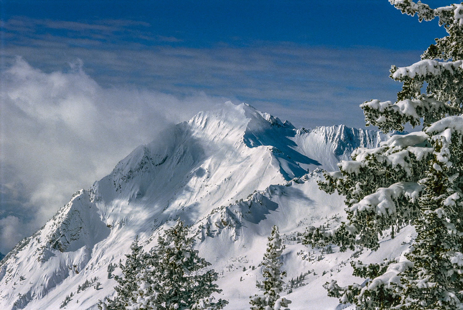 """""""Simply Superior"""", Mount Superior from Little Cottonwood Canyon,"""