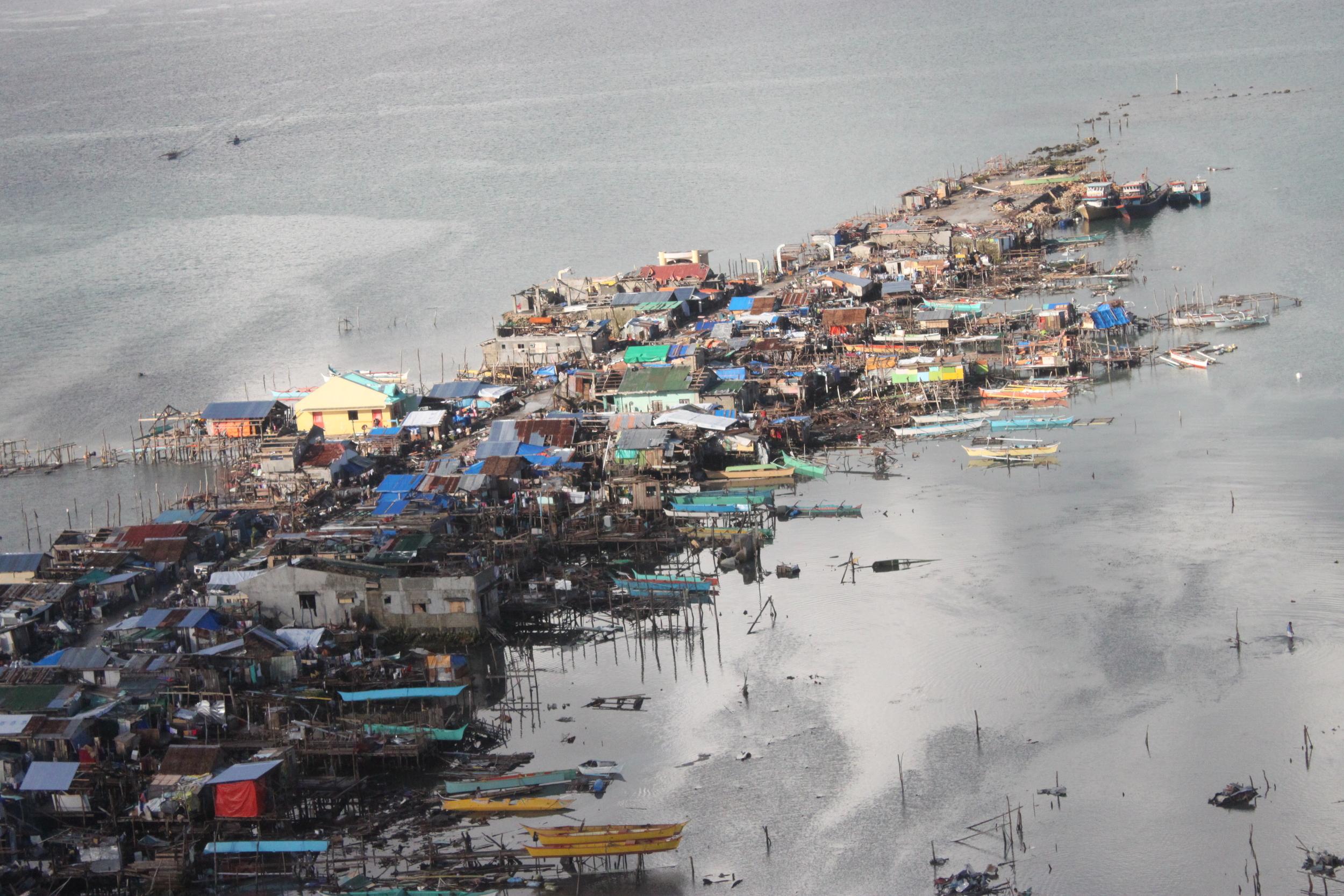 Coastal communities Leyte devastated
