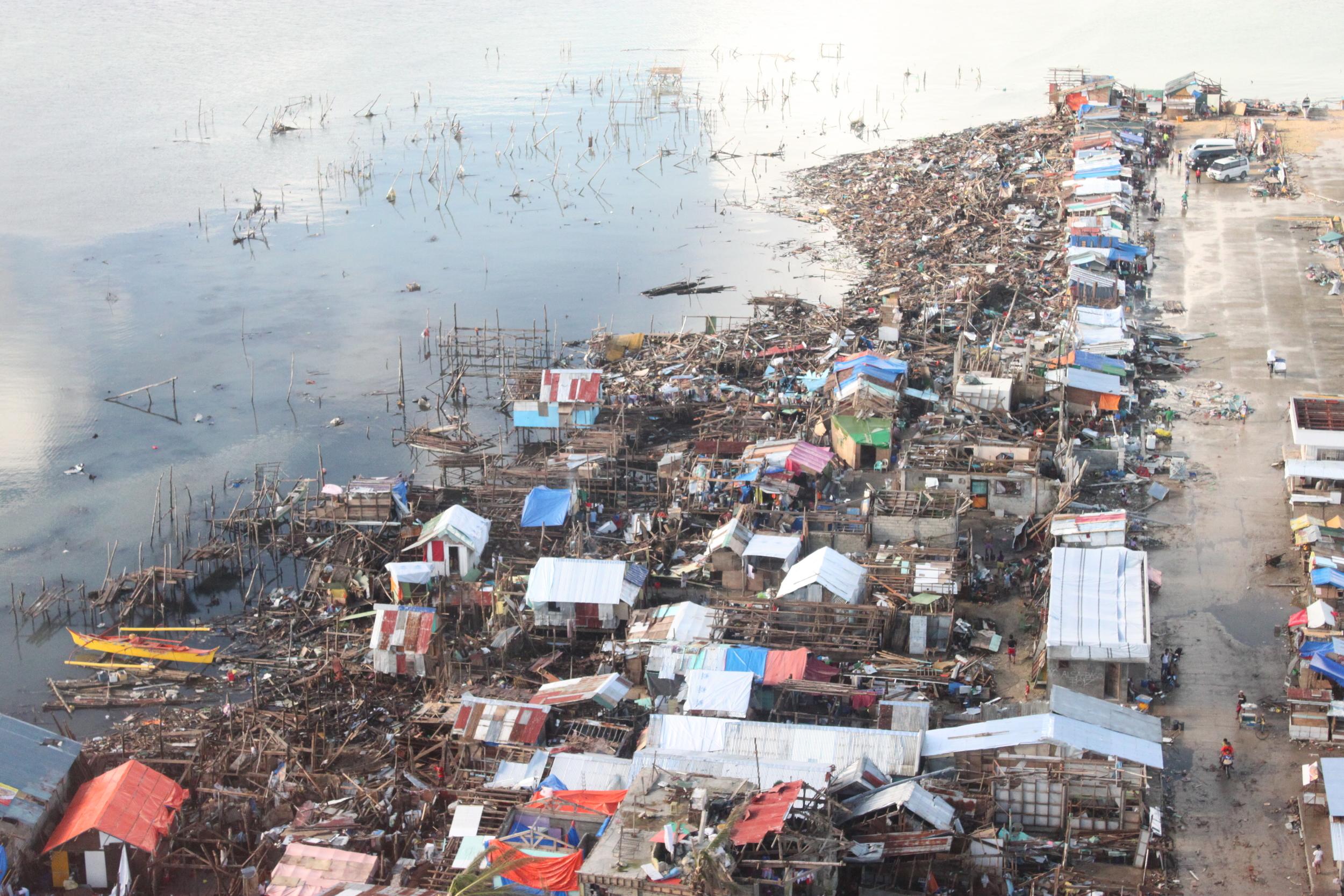 View of devastation in Leyte