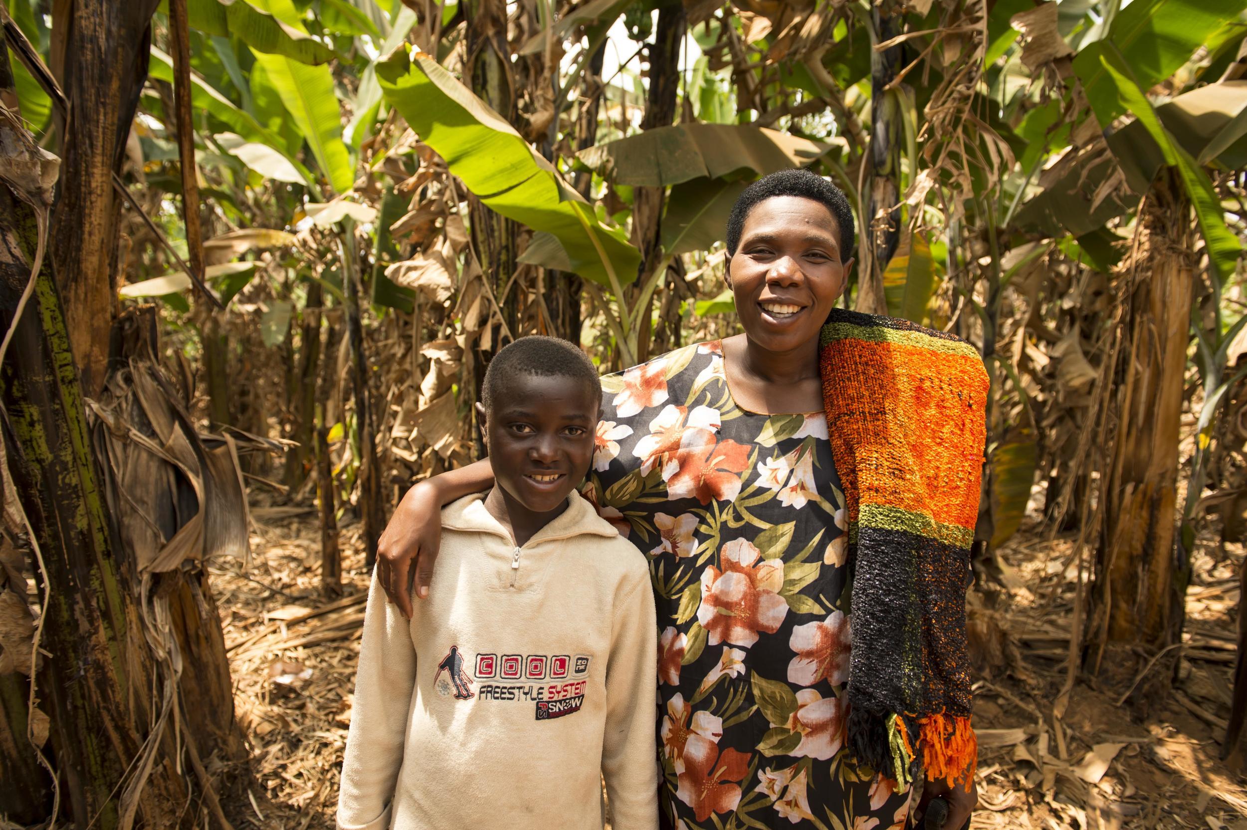 Boy and Grandma Rwanda