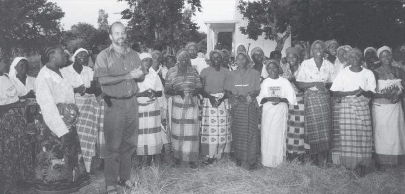 Dr. Pieter Ernst with Care Group volunteers in Mozambique