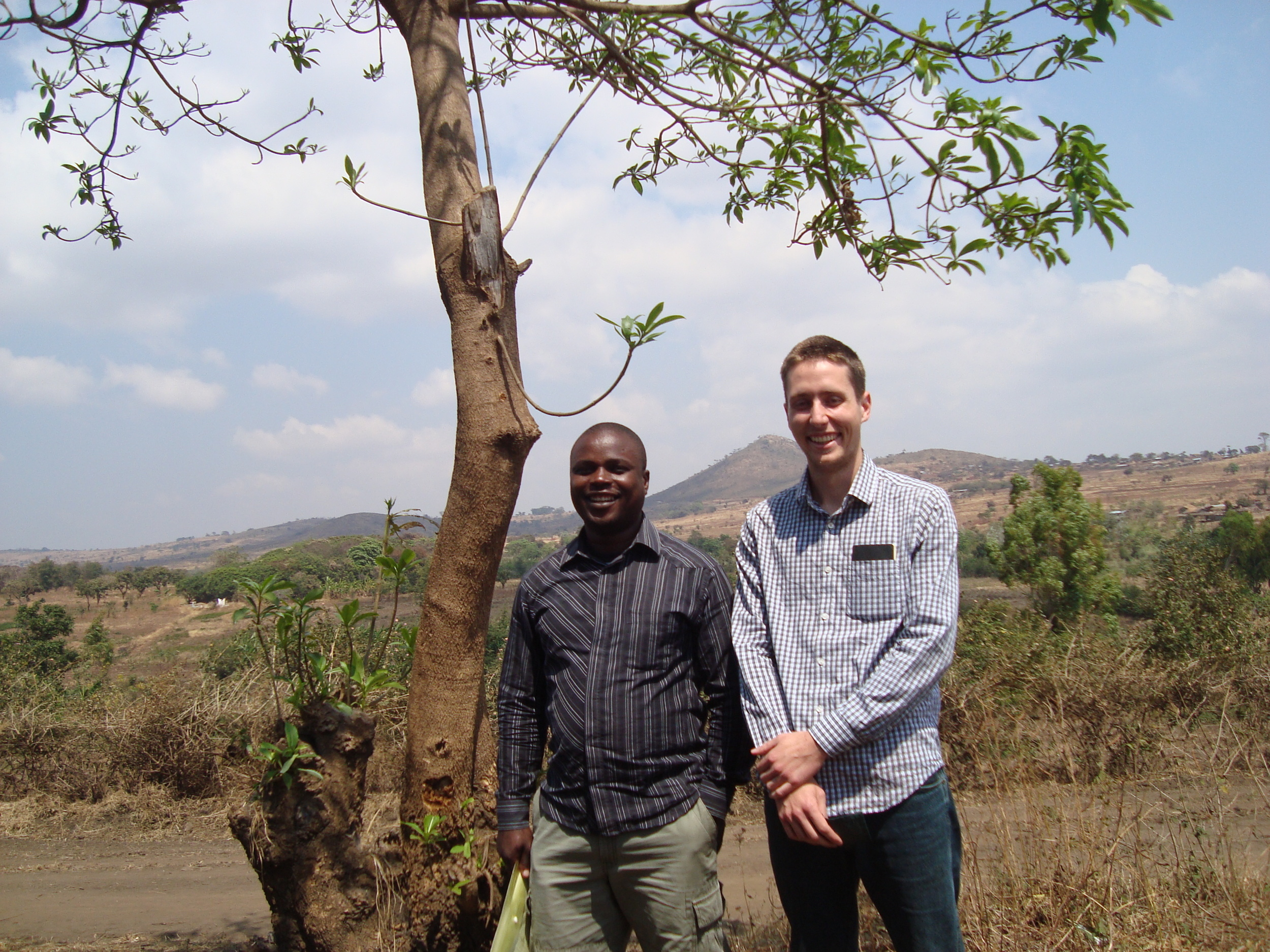 Dec 17 blog pic_Stephen and Dixon in Malawi