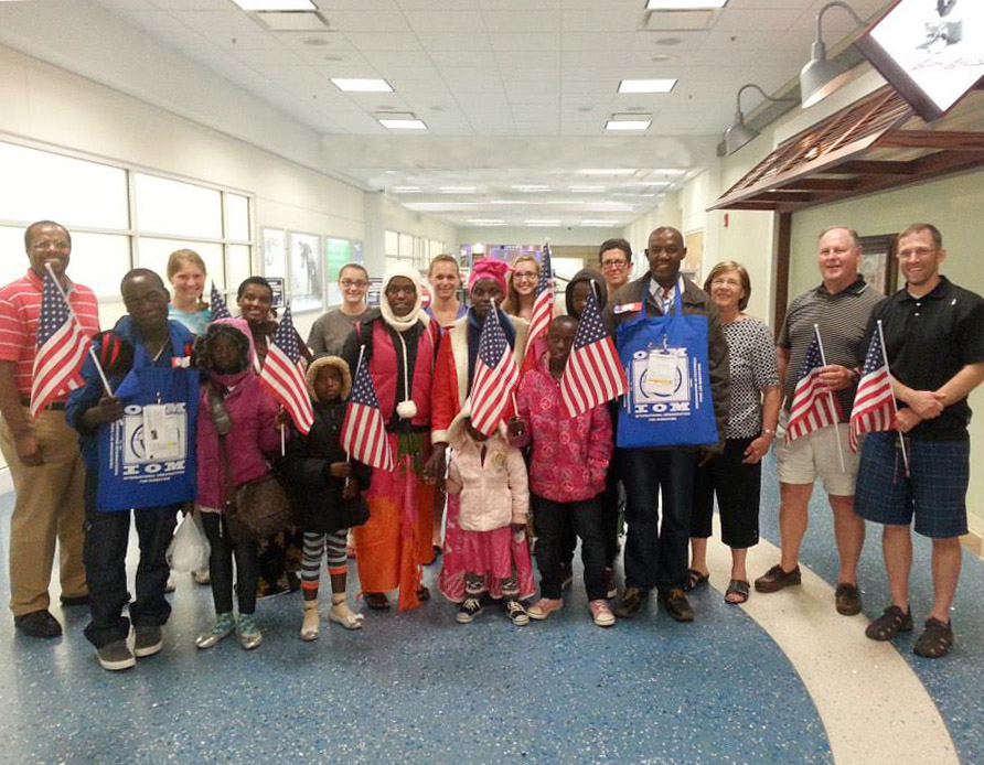 March 2 picture_Congolese family arriving in Jacksonville