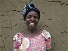 Kasolene, a woman from DR Congo