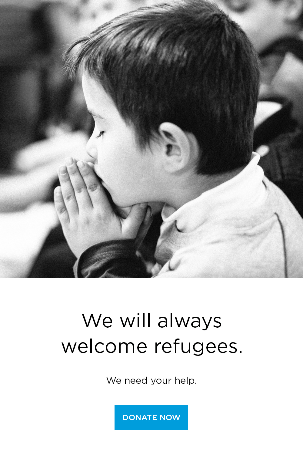 the church will always welcome refugees