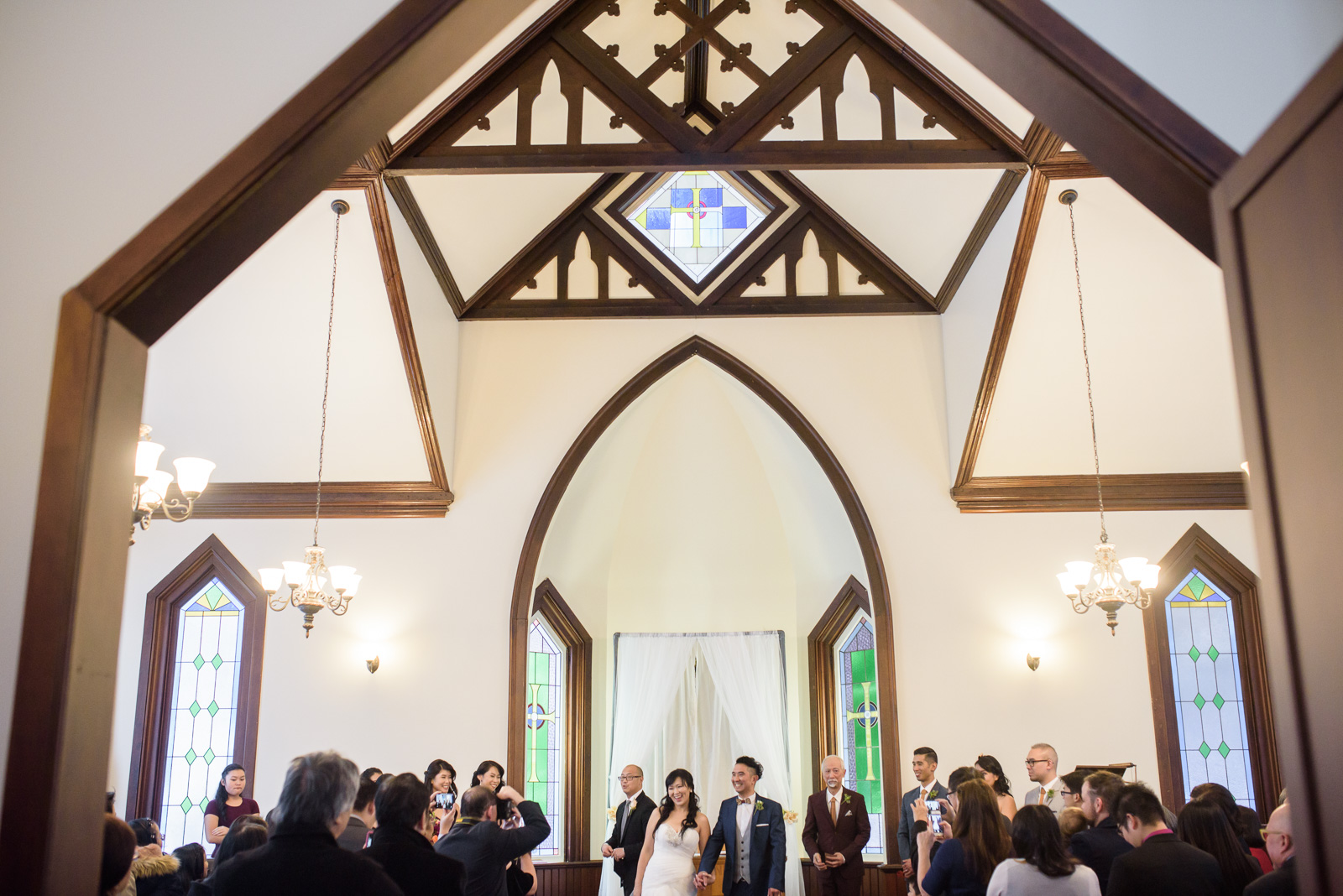 wedding at at minoru chapel in richmond - victoria wedding photographer
