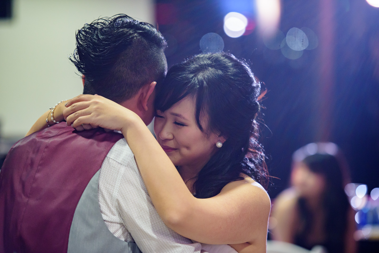 married couple first dance at masquerade wedding at ubc boathouse in richmond bc - victoria wedding photographer