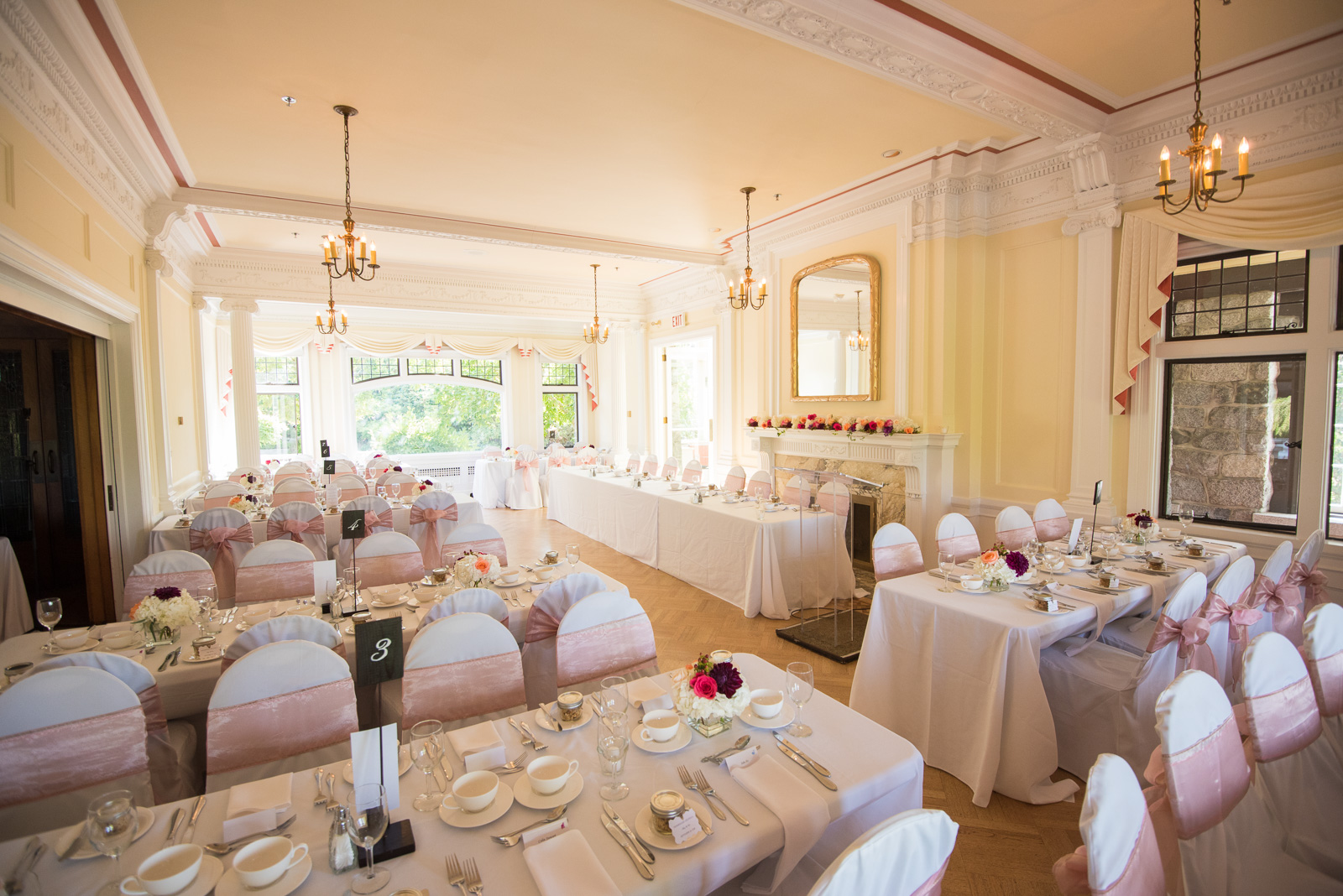 wedding reception hall at cecil green park house on ubc campus in vancouver - victoria wedding photographers