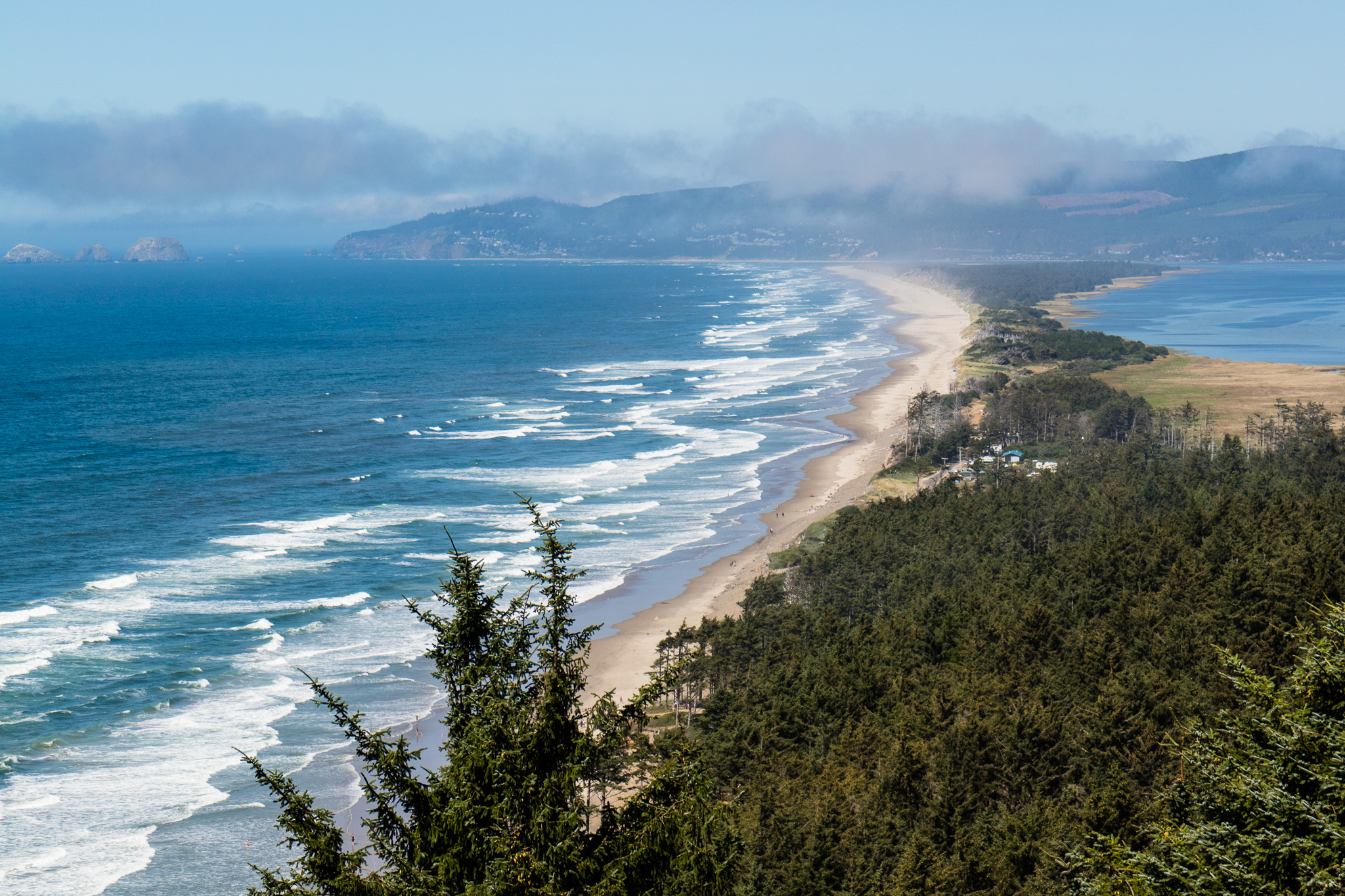 This was a little lookout we found as we were driving the coastline. A pretty amazing perspective of the Netarts Bay peninsula.