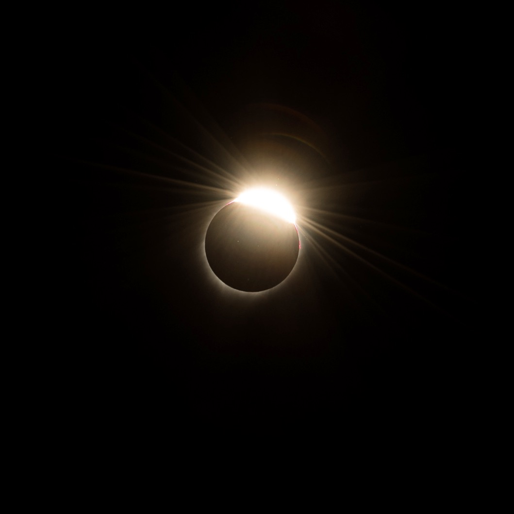 """I also thought this shot of the sun just emerging (called the """"diamond ring"""" effect) was pretty cool."""