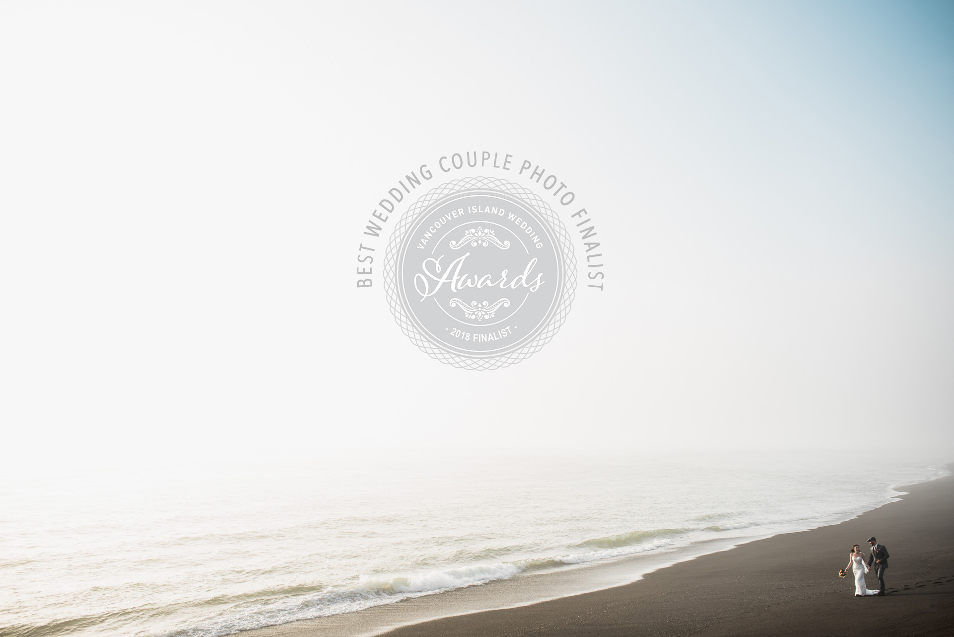 "2018 Finalist for ""Best Couple Photo""  award from the Vancouver Island Wedding Industry Awards"