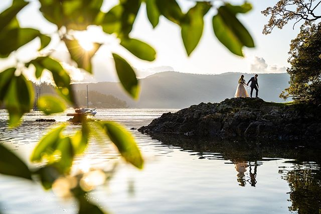 Gentle ripples across the water and the warm sun through the trees are giving us the most dreamy autumn feels for Megan and Stu's wedding.
