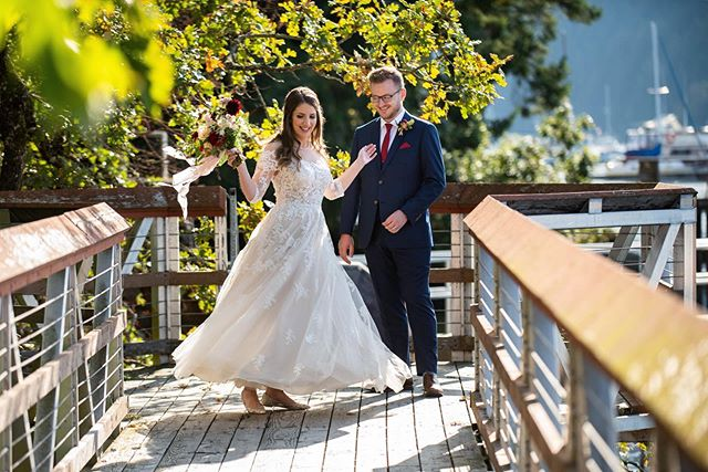A first look twirl in the autumn light. Megan and Stuart you are looking A++.