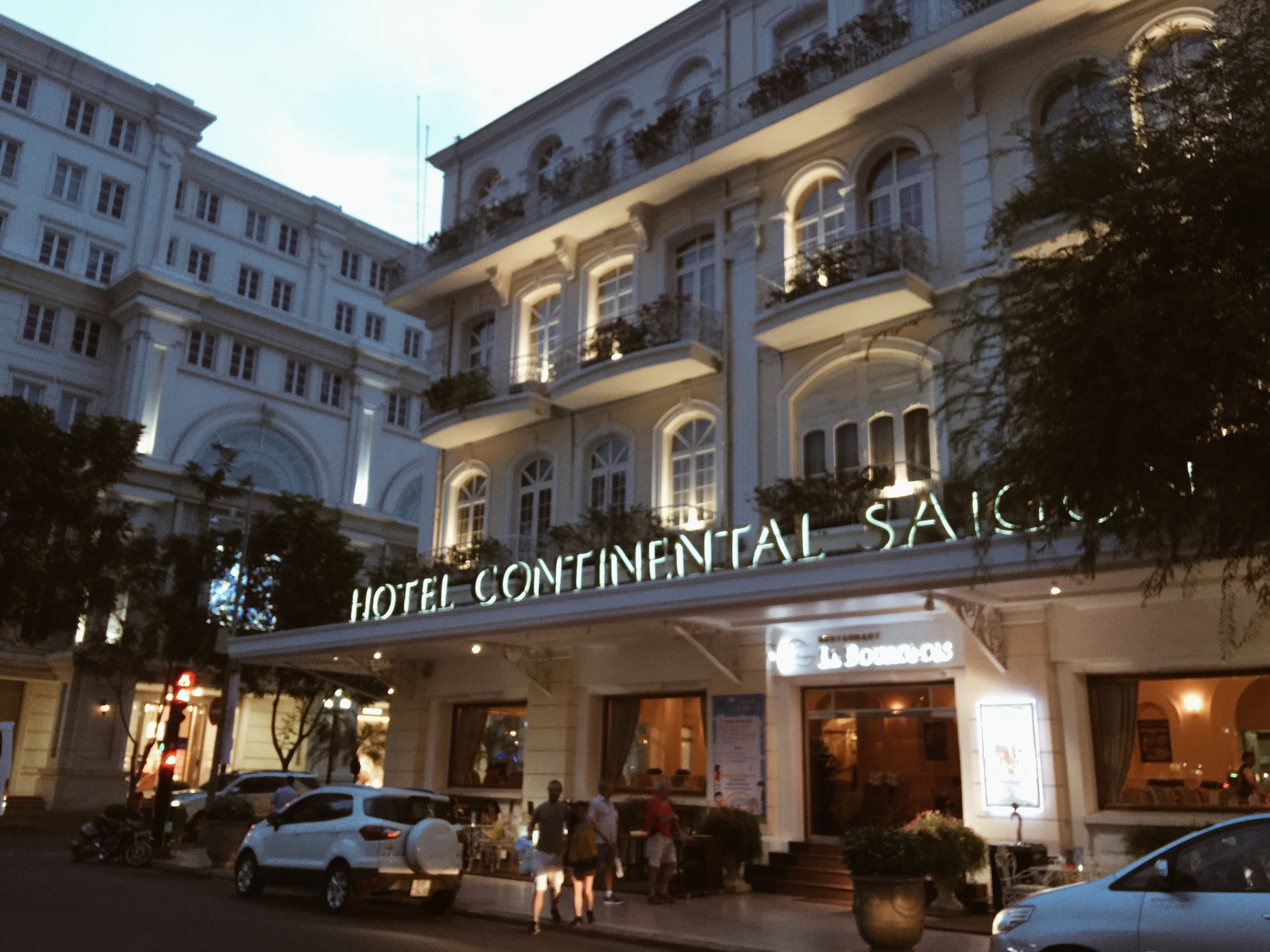 We stayed at the Hotel Continental Saigon, where Graham Greene wrote The Quiet American and where a good bit of the book is set.
