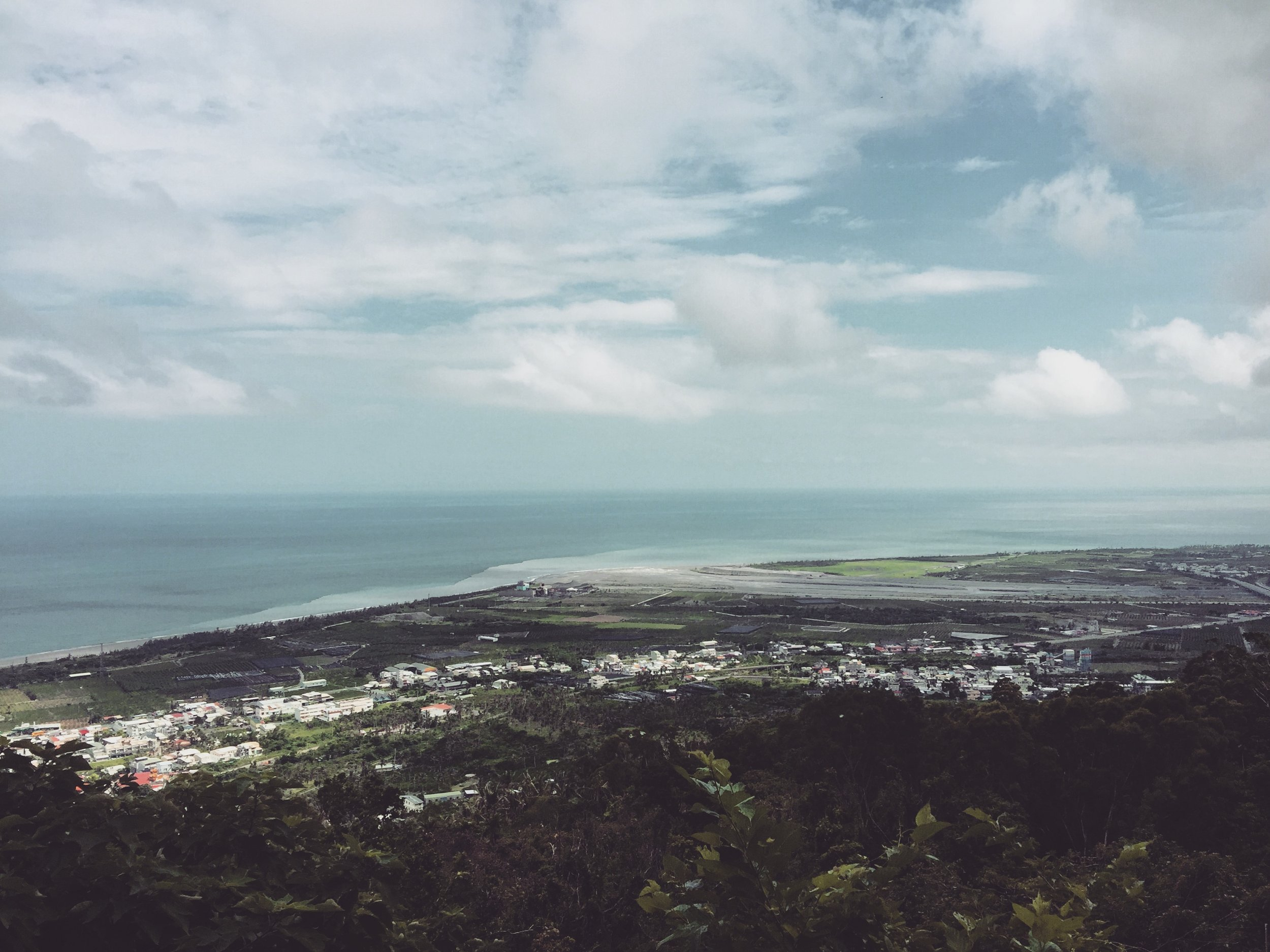 Looking down over Taimali, on the east coast of Taiwan.