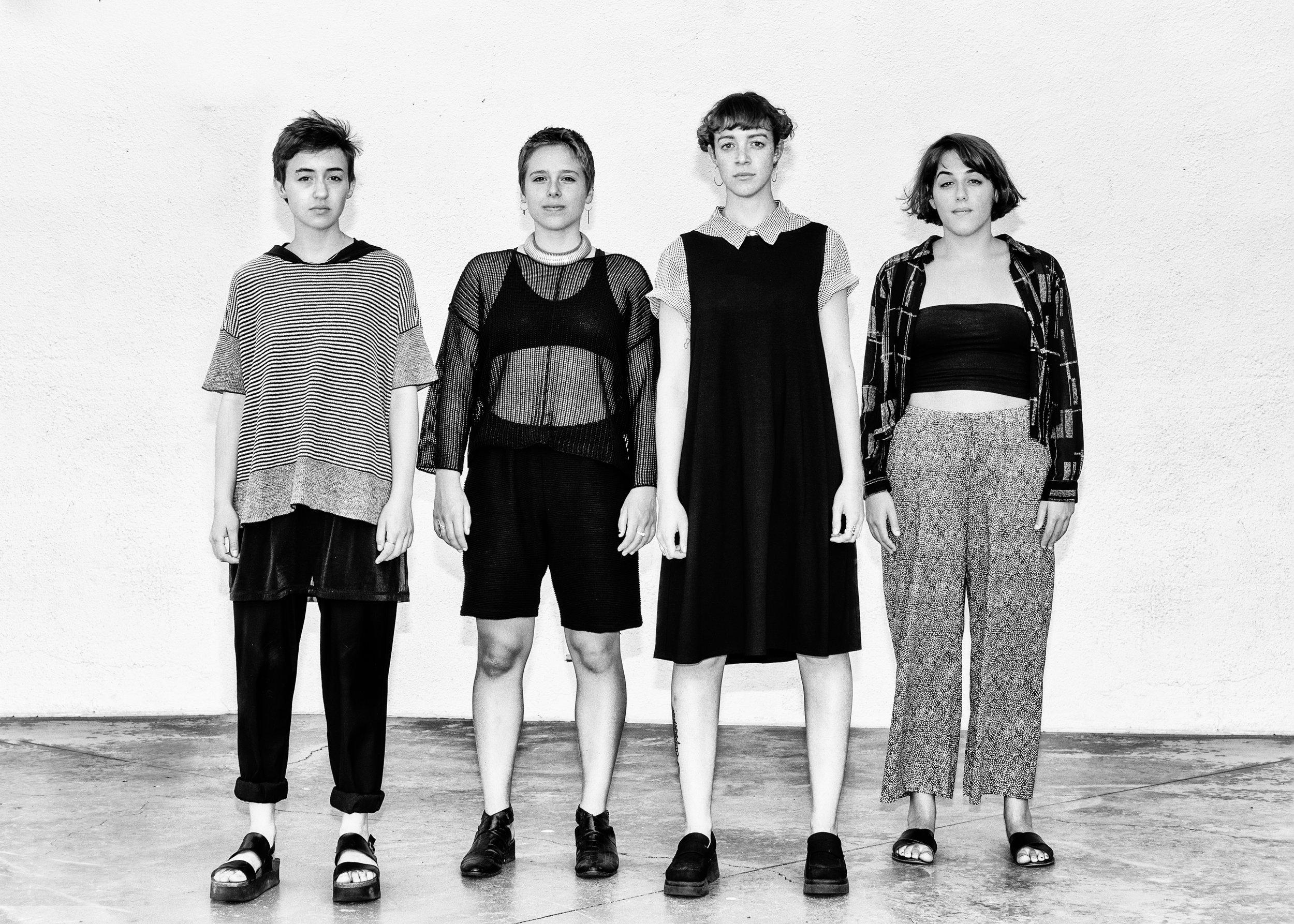 From left to right: Emma Bergman, E Cadoux, Mia Massimino, Sophie Goldberg