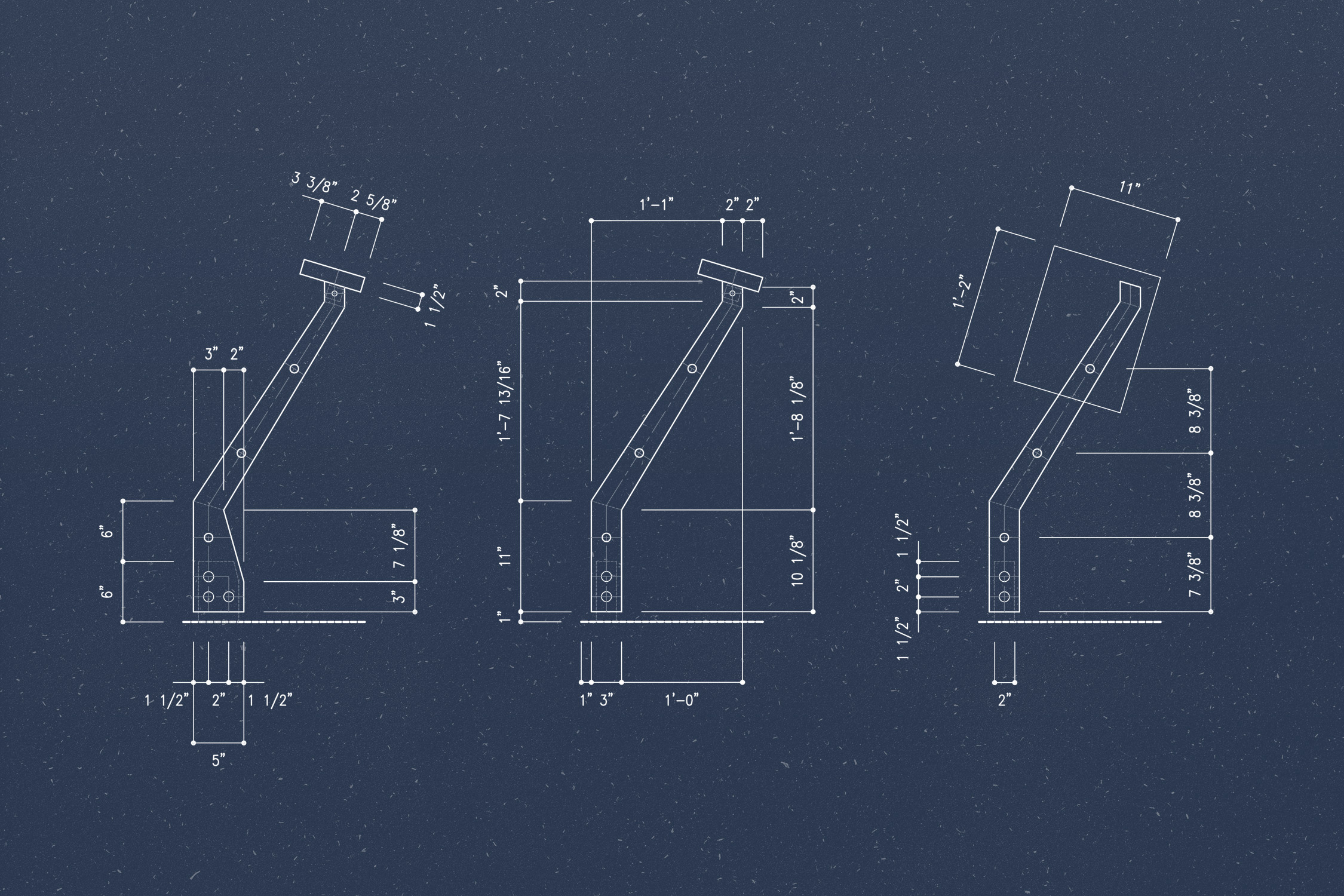 Handrail Detail Blueprint