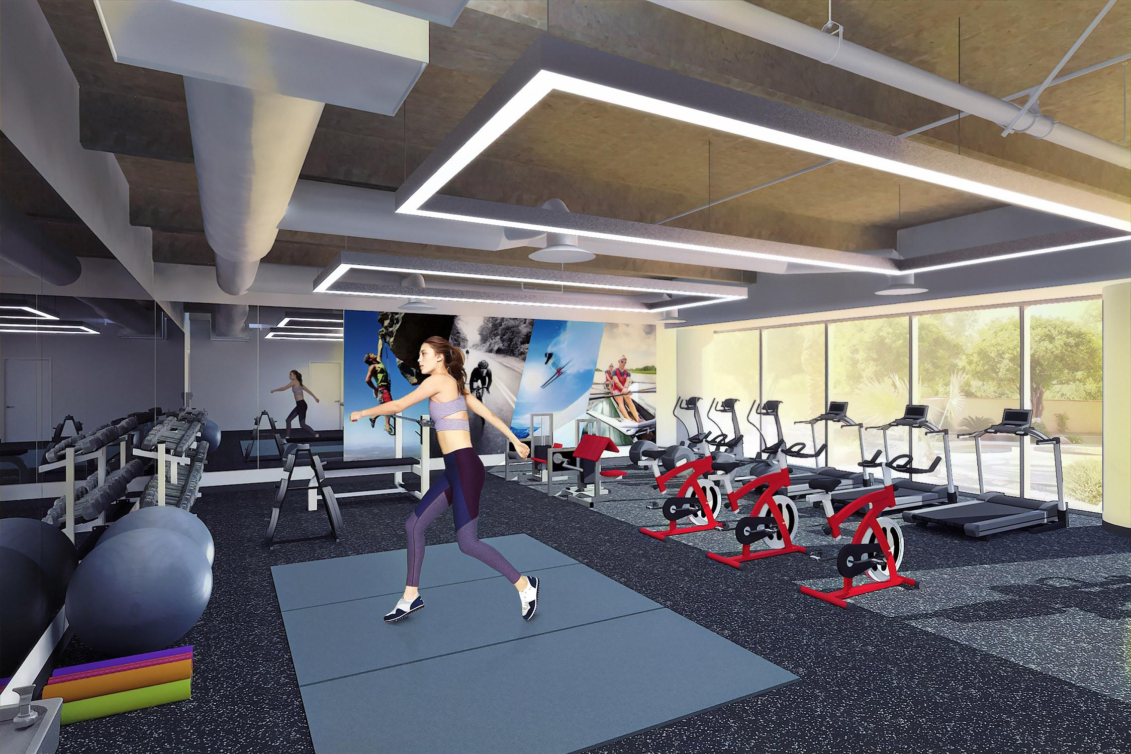 Fitness Center Rendering