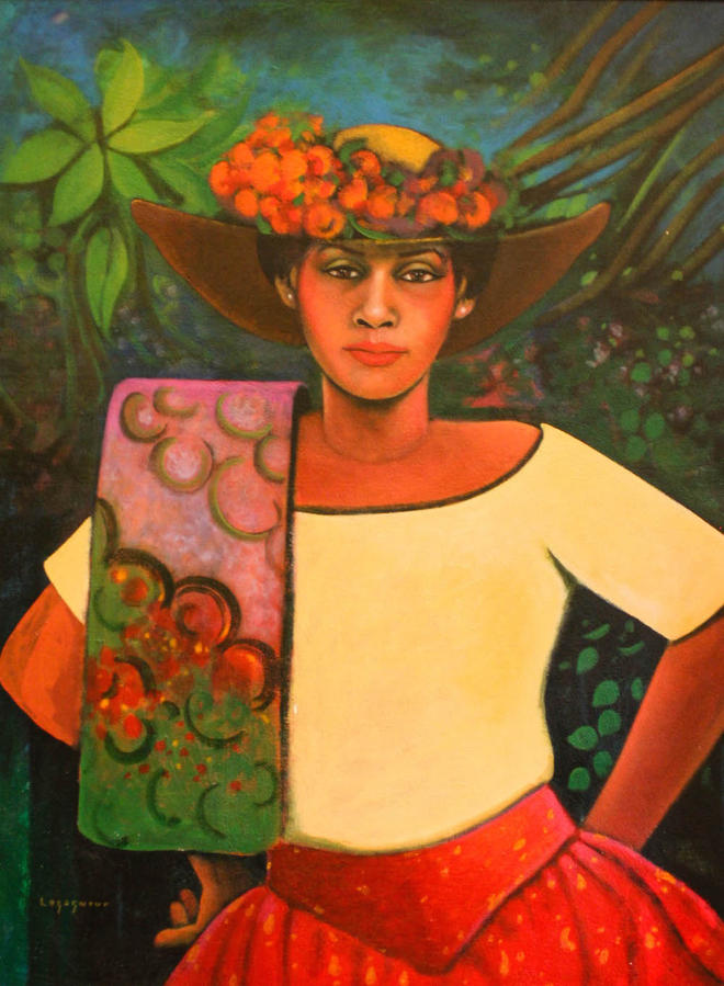 JEAN CLAUDE LEGAGNEUR,  LE BELLE CREOLE . OIL ON CANVAS. COURTESY THE MCKENNA MUSEUM OF AFRICAN AMERICAN ART, NEW ORLEANS.