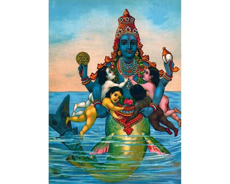 Matsya - One of Visnu's Avatars (Male or transgendered Water God).