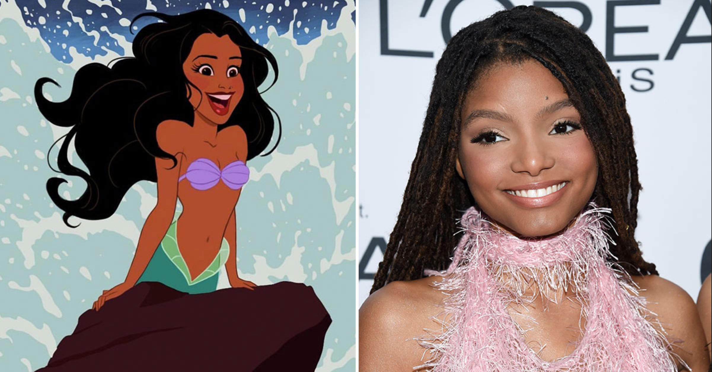 "Halle Bailey to Star As Ariel in Disney's ""Little Mermaid"" Live-Action Remake - image from www. gossiponthis.com"