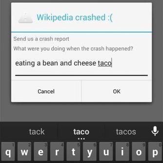 Wikipedia crashed
