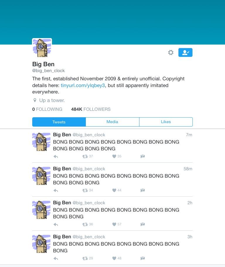 @big_ben_clock Twitter account