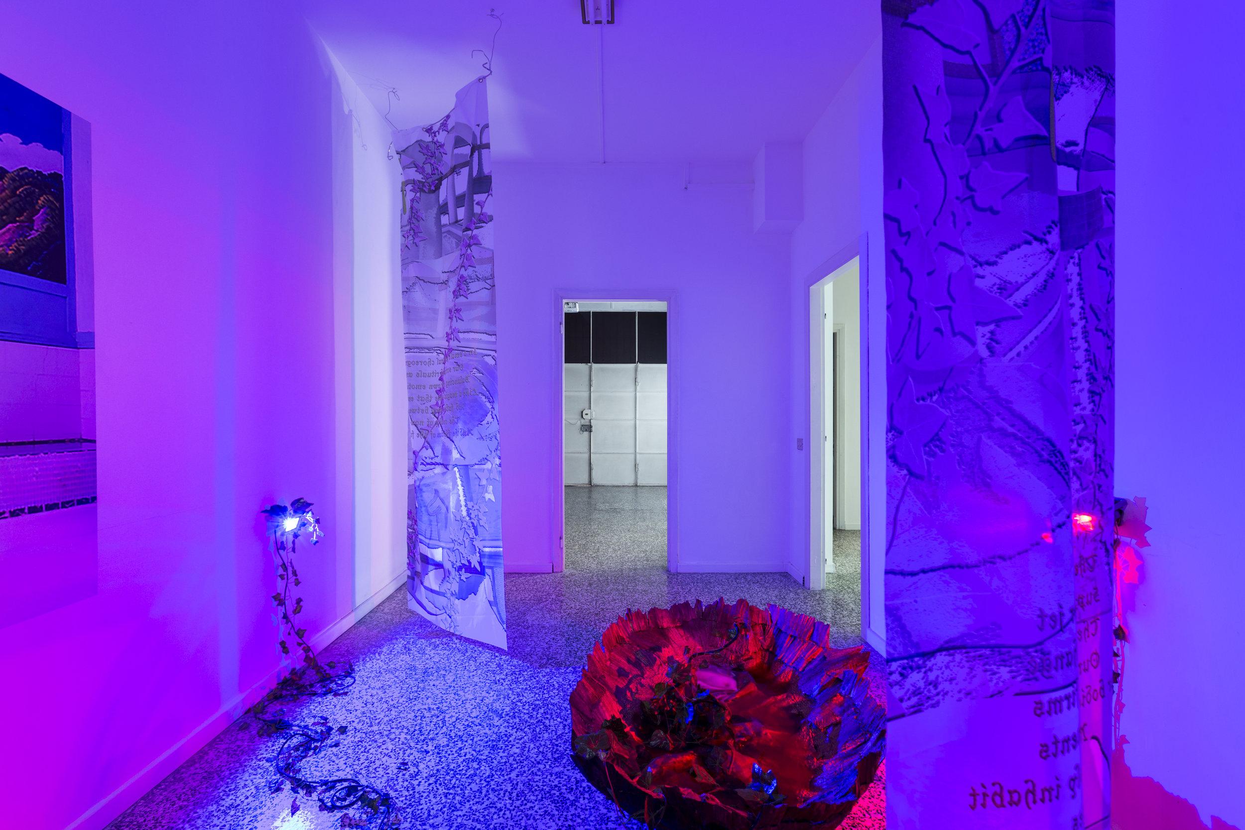 Lea Collet & Marios Stamatis, Is it like the Ocean?, 2017, vista de exposición