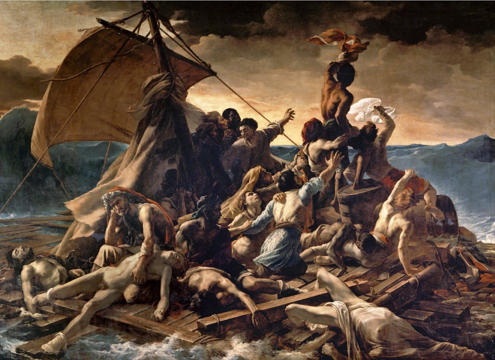 La balsa de la Medusa  (1819),Théodore Géricault