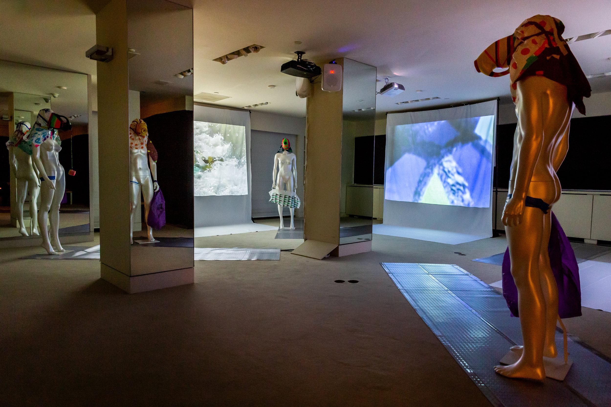 Cheryl Donegan, MODEL! PLEASURE! ARTIST! ALIVE! curaduría por Francesco Urbano Ragazzi, vista de exposición.