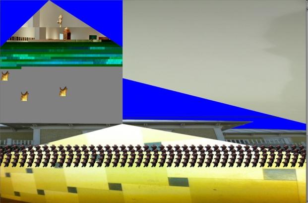Frédérique Laliberté  Infinitisme.com Forever A Prototype 2015- Proyecto e instalación basados en la web: elementos escultóricos (metal, cartón, cables), sistemas de iluminación y altavoces, sitio web (computadora)
