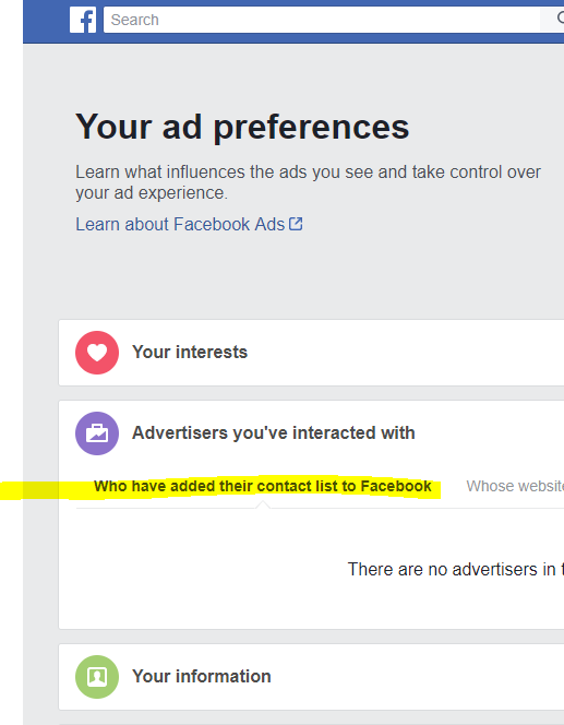 Then Click -Who have added their contact list to Facebook. -
