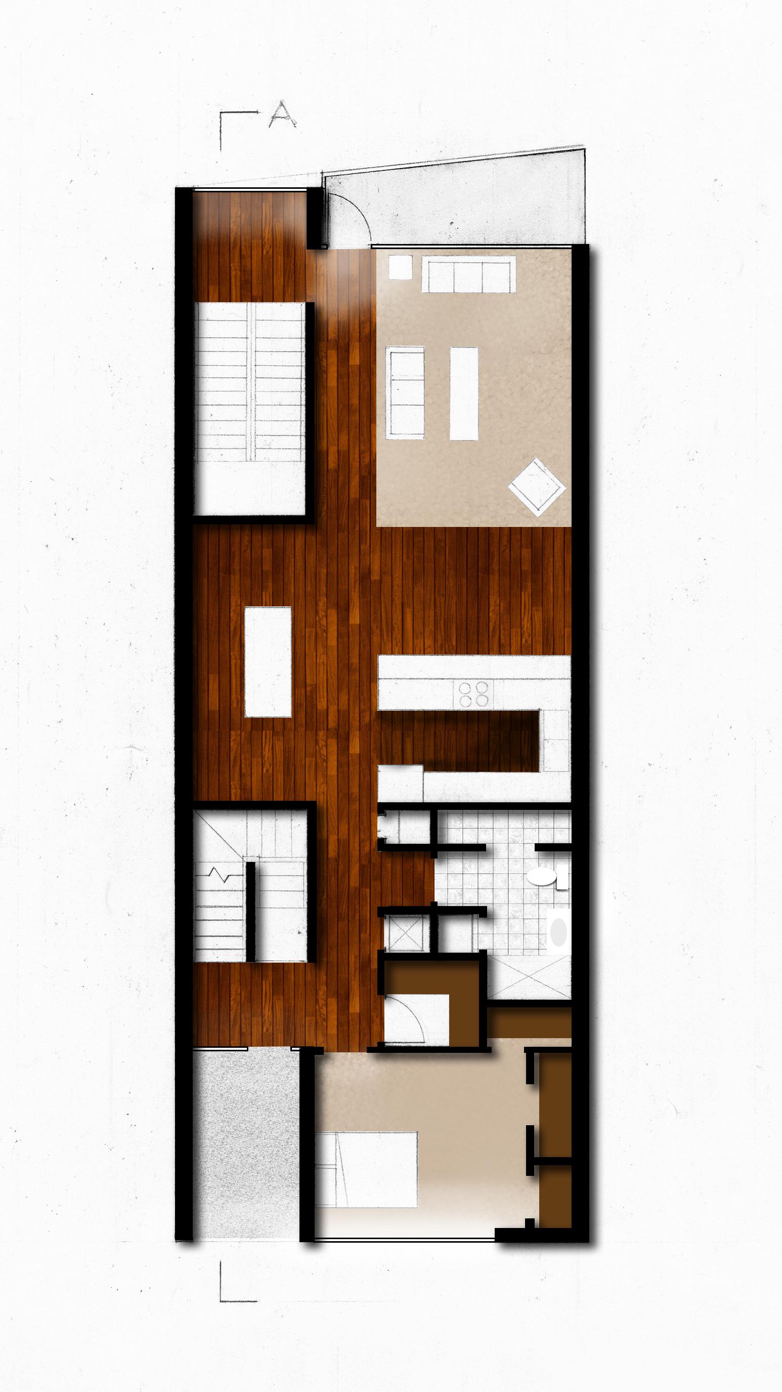 Main Floor Plan with Floor Patterns