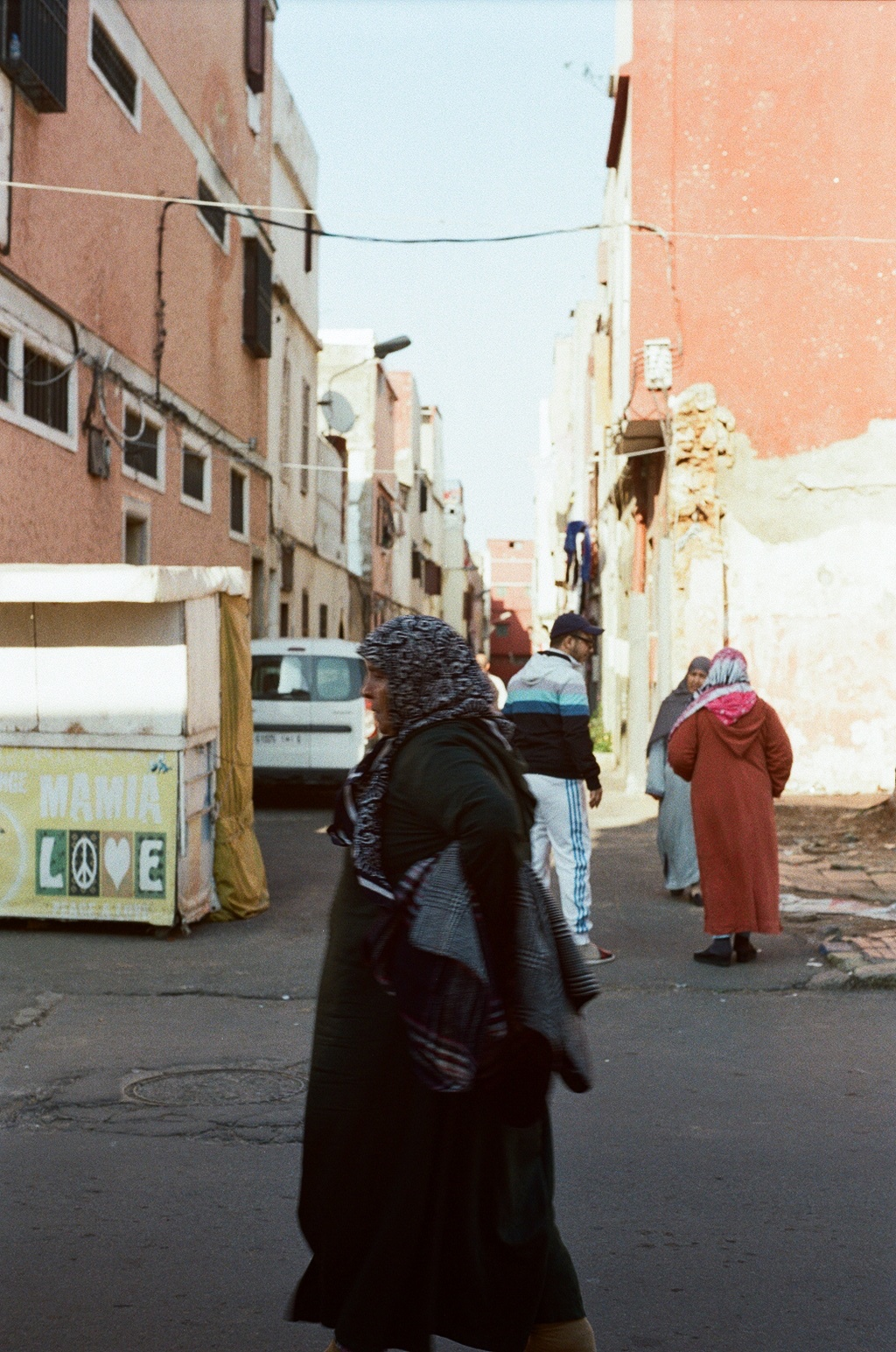 A local woman walks in the Habous quarter