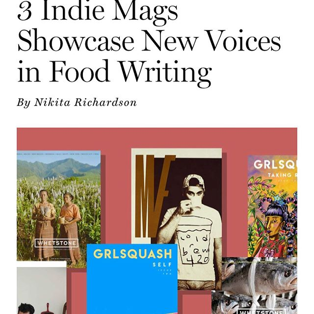 Thank you  @grubstreet for reppin Whetstone alongside @mouthfeelmagazine and the incredible @grlsquash! We especially love that @madstrap of @grlsquash, the article's author @nomnomnikita, and our own @isawstephen are all #ATLiens! 🙏🖤