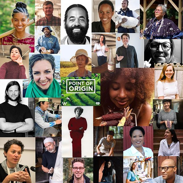 We still have one week left but this is a great time to say THANK YOU to everyone who has made space in your lives to check out #PointofOriginPodcast. Our entrance into the world of podcasting has been bolstered the all of these brilliant faces before you and those behind the scenes @iheartradio. ⁣ ⁣ Today's episode with Eugene Cook of @growwhereyouare and Leah Penniman of @soulfirefarm is the first of a two part series named after Leah's latest book of the same title. Enjoy this expression of black excellence from two of the nation's most essential educators, practitioners and activists in the movement for food sovereignty and land reclamation. ⁣ 🖤👨🏾‍🌾👩🏽‍🌾